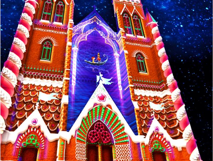 シドニー聖メアリーのプロジェクションマッピング