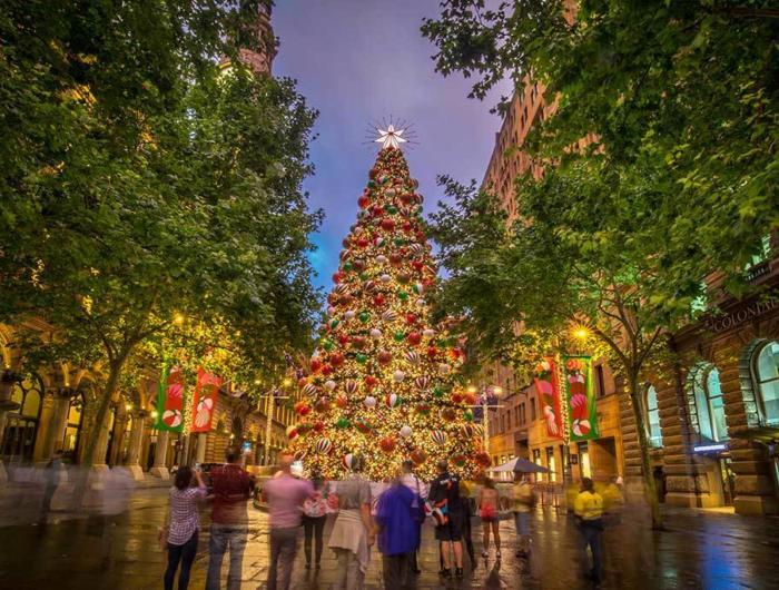 マーティンプレイスのクリスマスツリー